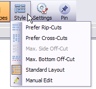 layout style button